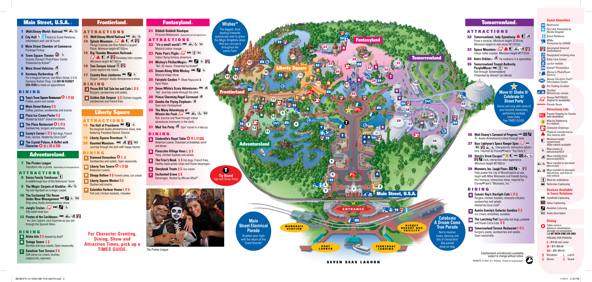 graphic about Printable Magic Kingdom Map named Concept Park Maps in excess of the Decades GDF - S2 - 2011