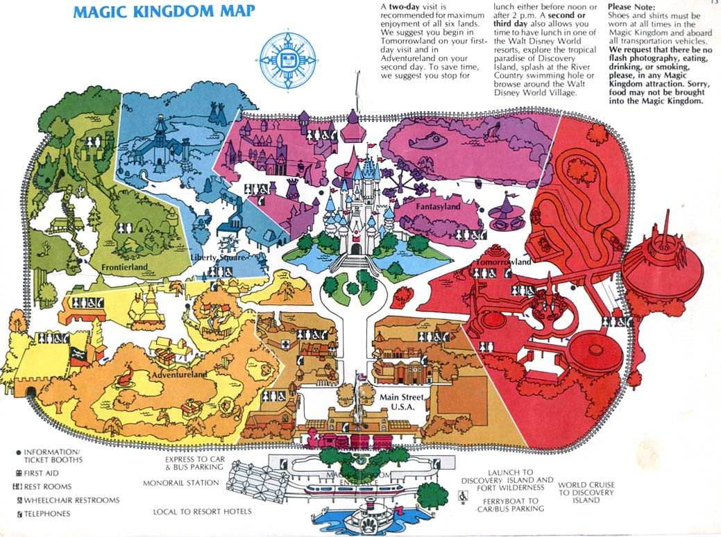 Theme Park Maps – over the Years | GDF - S2 - 2011