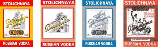 label vintage Stolichnaya